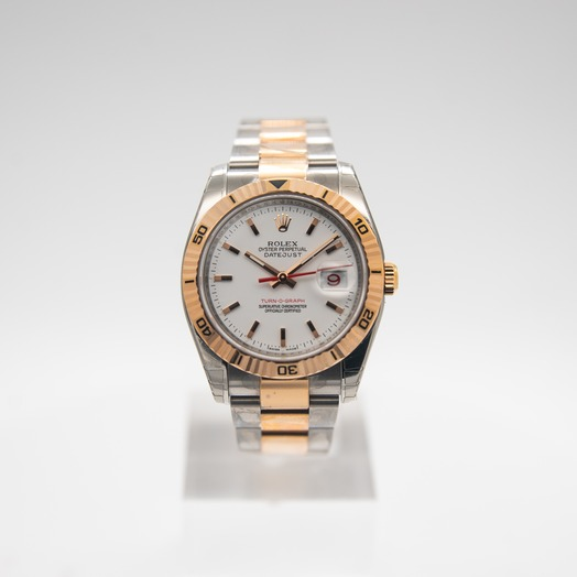 Rolex Datejust 36mm-Steel and Gold Pink Gold-Turn-O-Graph-Oyster