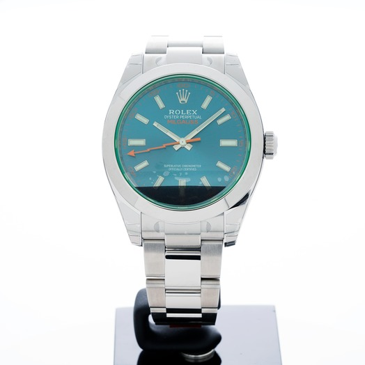 Rolex Milgauss Stainless Steel Automatic Blue Dial Men's Watch