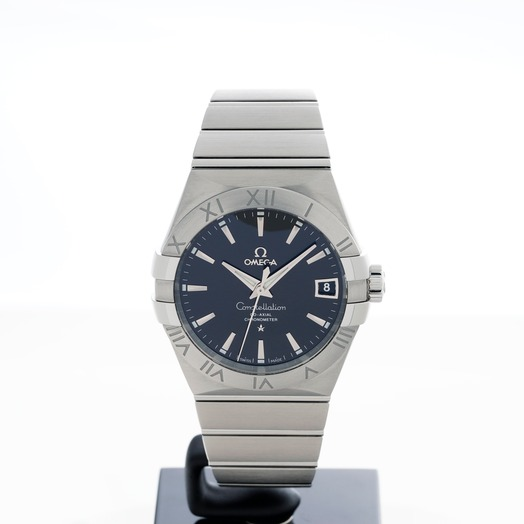 Omega Constellation Co-Axial 38mm Automatic Black Dial Steel Men's Watch 123.10.38.21.01.001