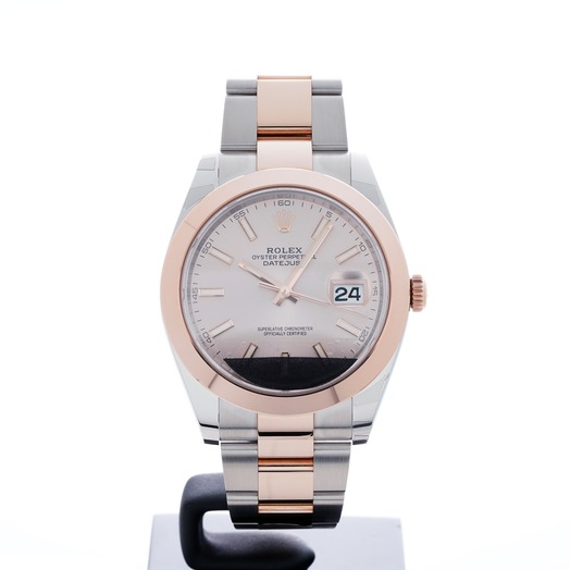 Rolex Datejust 41 Rolesor Everose Smooth / Oyster / Sundust