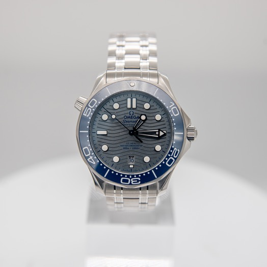 Omega Seamaster Diver 300 M Co‑Axial Master Chronometer 42 mm Automatic Grey Dial Steel Men's Watch