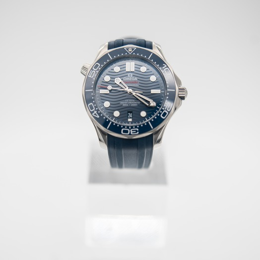 Omega Seamaster Diver 300 M Co‑Axial Master Chronometer 42 mm Automatic Blue Dial Stainless Steel Men's Watch