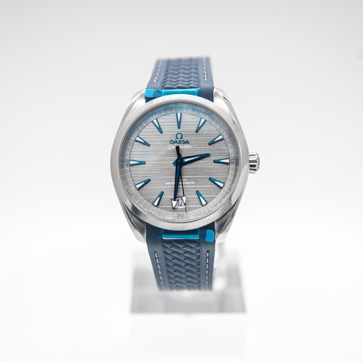 Omega Seamaster Aqua Terra 150M Omega Co‑Axial Master Chronometer 41 mm Automatic Grey Dial Stainless Steel Men's Watch
