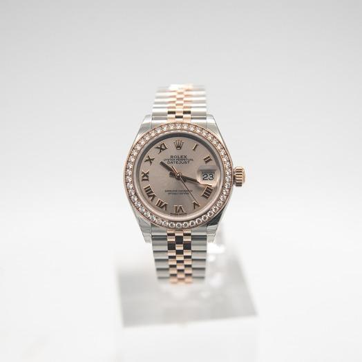 Rolex Lady-Datejust 28 Sundust Roman Steel/18k Everose Gold Dia 28mm