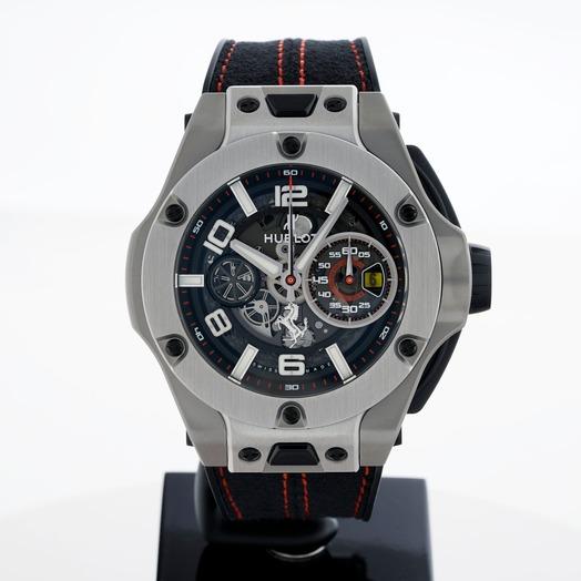 Hublot Big Bang Ferrari Unico Titanium Automatic Black Dial Men's Watch 402.NX.0123.WR