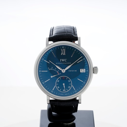 IWC Portofino Hand-Wound Eight Days Manual-winding Blue Dial Men's Watch IW510106