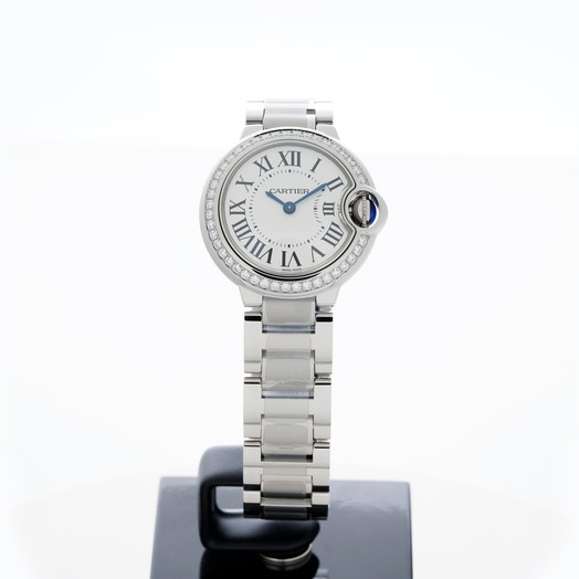 Cartier Ballon Bleu de Cartier 28 mm Quartz White Dial Stainless Steel Ladies Watch W4BB0015