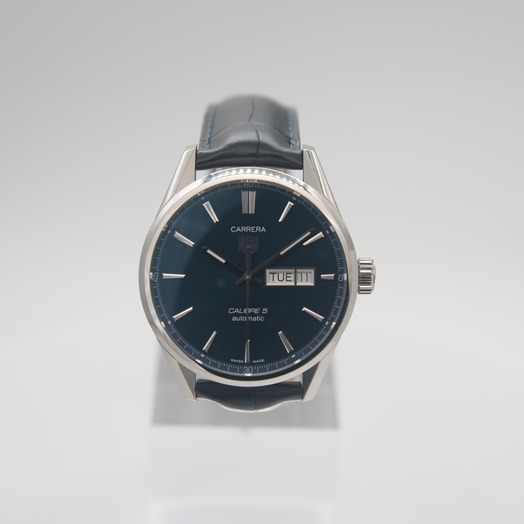 TAG Heuer Carrera Calibre 5 Day-Date Automatic Blue Dial Men's Watch