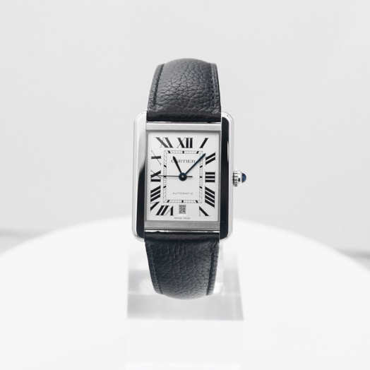 Cartier Tank Solo 31 mm x 40.85 mm Automatic Silver Dial Stainless Steel Men's Watch WSTA0029